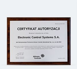 Autoryzowany partner Johnson Controls 2015