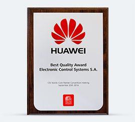 HUAWEI Best Quality Award 2016