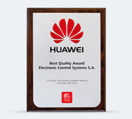 HUAWEI Best Quality Award 2016